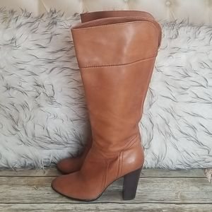 Halogen Brianna Tall Leather Boots Size 7